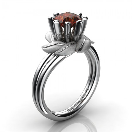 Nature-Inspired-14K-White-Gold-1-0-Ct-Brown-Diamond-Leaf-and-Vine-Engagement-Ring-R440-14KWGBRD-P