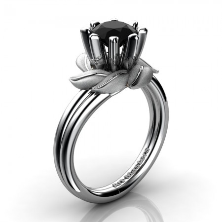 Nature-Inspired-14K-White-Gold-1-0-Ct-Diamond-Leaf-and-Vine-Engagement-Ring-R440-14KWGD-P24