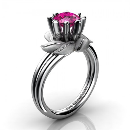 Nature-Inspired-14K-White-Gold-1-0-Ct-Pink-Sapphire-Leaf-and-Vine-Engagement-Ring-R440-14KWGSPS-P20