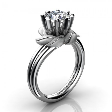 Nature-Inspired-14K-White-Gold-1-0-Ct-White-Sapphire-Leaf-and-Vine-Engagement-Ring-R440-14KWGSWS-P20