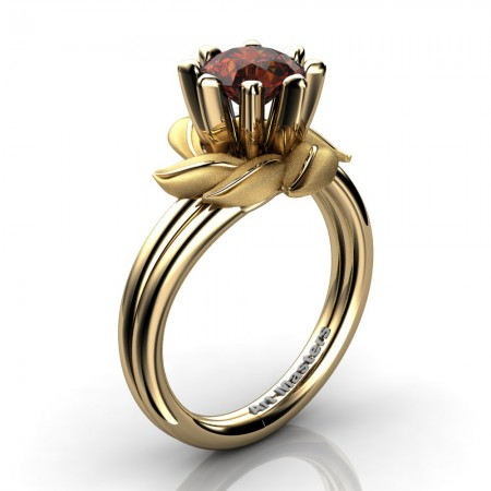Nature-Inspired-14K-Yellow-Gold-1-0-Ct-Brown-Diamond-Leaf-and-Vine-Engagement-Ring-R440-14KYGBRD-P