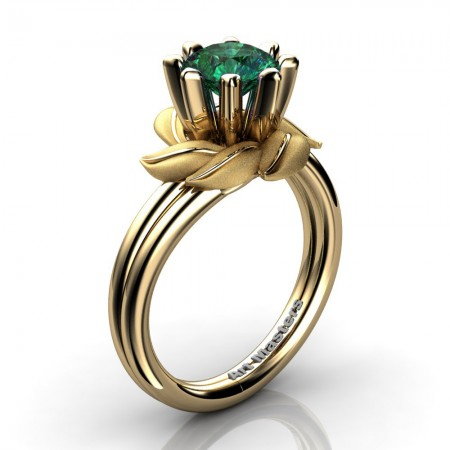 Nature-Inspired-14K-Yellow-Gold-1-0-Ct-Emerald-Leaf-and-Vine-Engagement-Ring-R440-14KYGSEM-P20