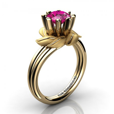 Nature-Inspired-14K-Yellow-Gold-1-0-Ct-Pink-Sapphire-Leaf-and-Vine-Engagement-Ring-R440-14KYGSPS-P