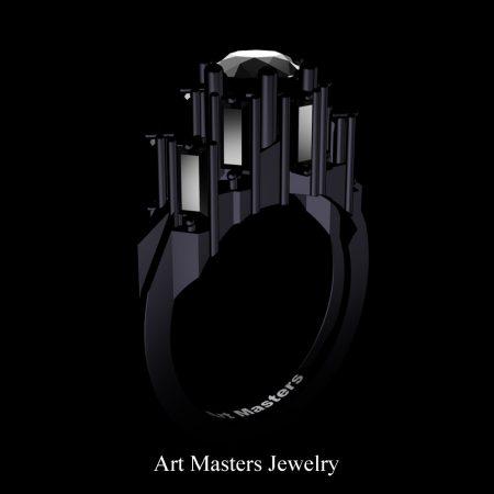 Avant-Garde-14K-Black-Gold-3-0-Carat-Black-Diamond-Engagement-Ring-R1130-14KBGBD