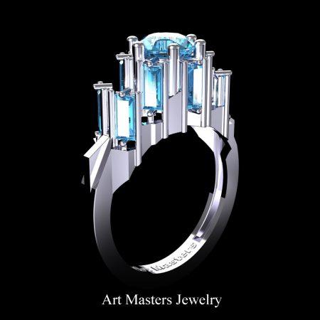 Avant-Garde-14K-White-Gold-3-0-Carat-Blue-Diamond-Engagement-Ring-R1130-14KWBD