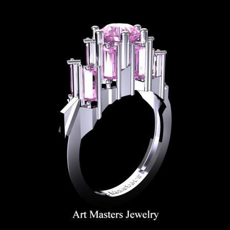 Avant-Garde-14K-White-Gold-3-0-Carat-Ligh-Pinkt-Sapphire-Engagement-Ring-R1130-14KWGLPS