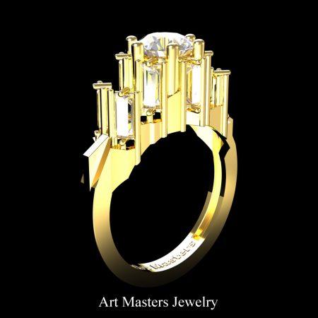 Avant-Garde-14K-Yellow-Gold-3-0-Carat-Diamond-Engagement-Ring-R1130-14KWGD