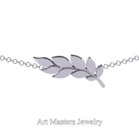 Classic-950-Platinum-Laurel-Leaf-Necklace-Pendant-P800-PLAT